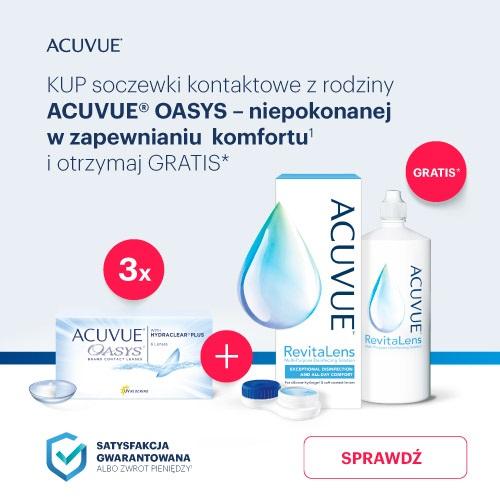 banner Acuvue Oasys + płyn gratis
