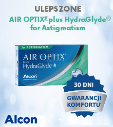 banner Air Optix plus Hydraglyde for Astigmatism