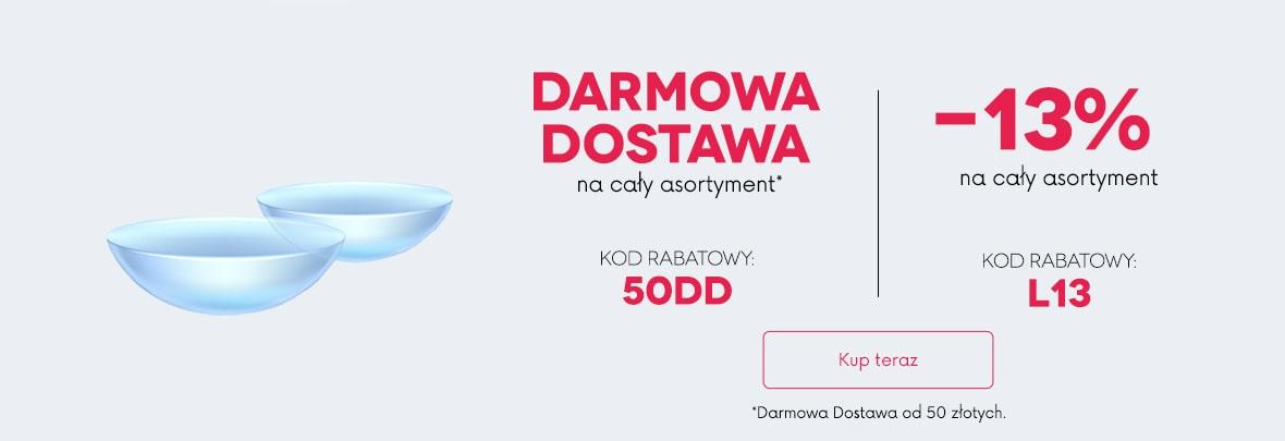 banner darmowa dostawa lub rabat 13%