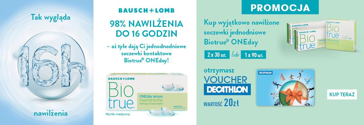 banner promocja z BioTrue ONEday