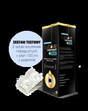 ZESTAW TESTOWY: 2 szt. soczewek EyeLove Exclusive PRO + płyn EyeLove Comfort PLUS 100 ml + pojemnik na soczewki