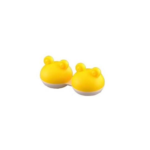 Pojemnik na soczewki Qcase - żółta żabka