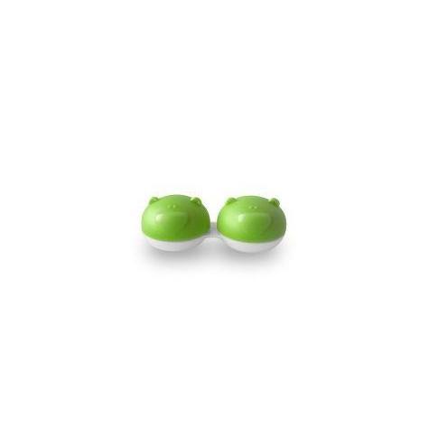 Pojemnik na soczewki Qcase - zielony miś