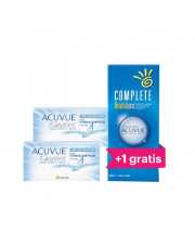 ZESTAW: 2x Acuvue Oasys for Astigmatism + Płyn Complete Revitalens 360 ml + drugi płyn 360 ml GRATIS