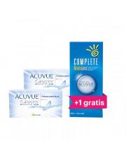 ZESTAW: 2x Acuvue Oasys 8.8 6 szt + Płyn Complete Revitalens 360 ml + drugi płyn 360 ml GRATIS