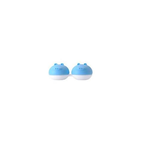 Pojemnik na soczewki Qcase - niebieska świnka