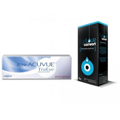 Acuvue 1-Day TruEye + krople EyeLove Comfort 15 ml
