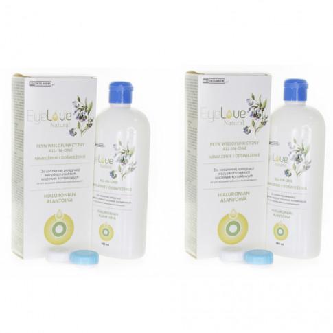 ZESTAW: EyeLove Natural 2x360 ml - hialuronian i alantoina - drugi 50% taniej!
