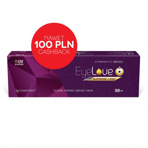 EyeLove Supreme 1-Day 30 sztuk + DARMOWA DOSTAWA + nawet 100 pln CashBack