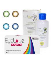 EyeLove Colors 2 szt. + płyn EyeLove Natural 100 ml + pojemnik