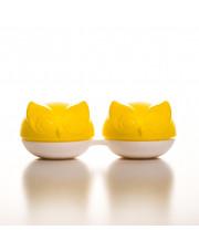 Pojemnik na soczewki Qcase - żółta sowa