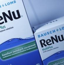 Firma Bausch+Lomb wycofuje niektóre serie płynów do soczewek